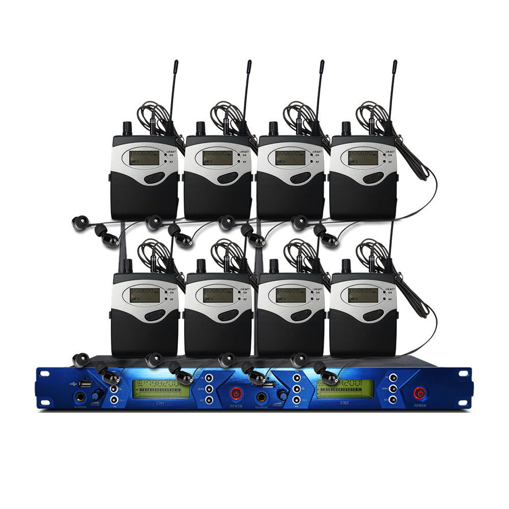 W uchu Monitor systemu 2 kanałowy 7 Monitor nadajnika Bodypack z monitorem bezprzewodowym do sprzętu scenicznego
