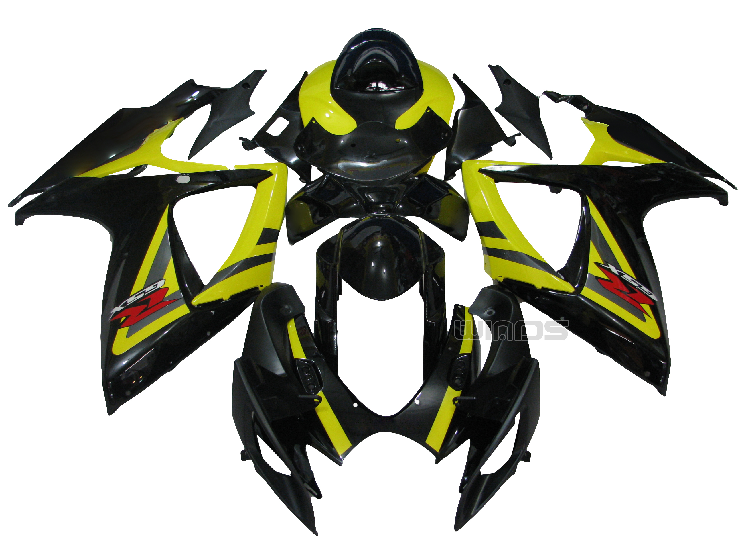 For Suzuki <font><b>GSXR</b></font> <font><b>600</b></font> 750 K6 2006 <font><b>2007</b></font> Injection ABS Bodywork <font><b>Fairing</b></font> <font><b>Kit</b></font> Yellow Black image