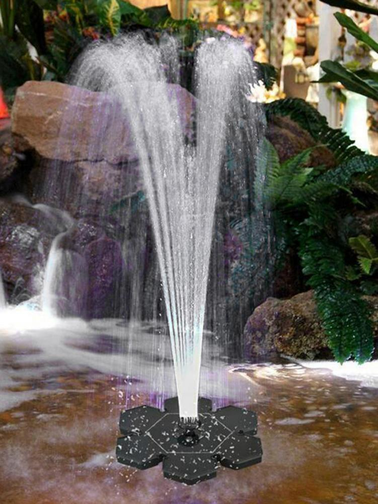 Solar Fountain Pump Floats Pump Bird Bath Floating Water Pump With LED Light Solar Panel Water Fountain 9V 2.4W Garden LED