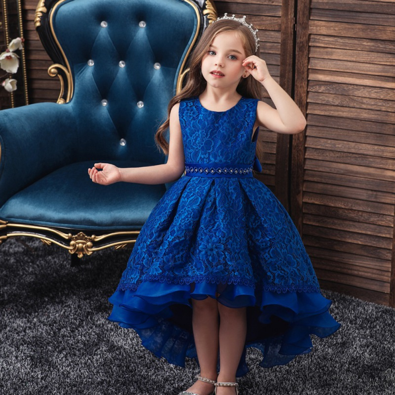 Children Clothes Birthday Dresss Vestidos infantil Sleeveless Princess Party Kids Dresses title=