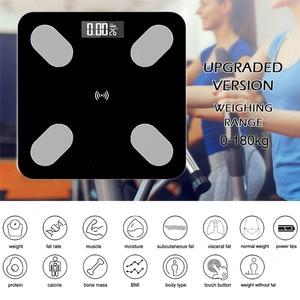 Körper Fett Skala Smart BMI Skala LED Digitale Badezimmer Wireless Gewicht Skala Balance Körper Analyzer Bluetooth APP Android IOS
