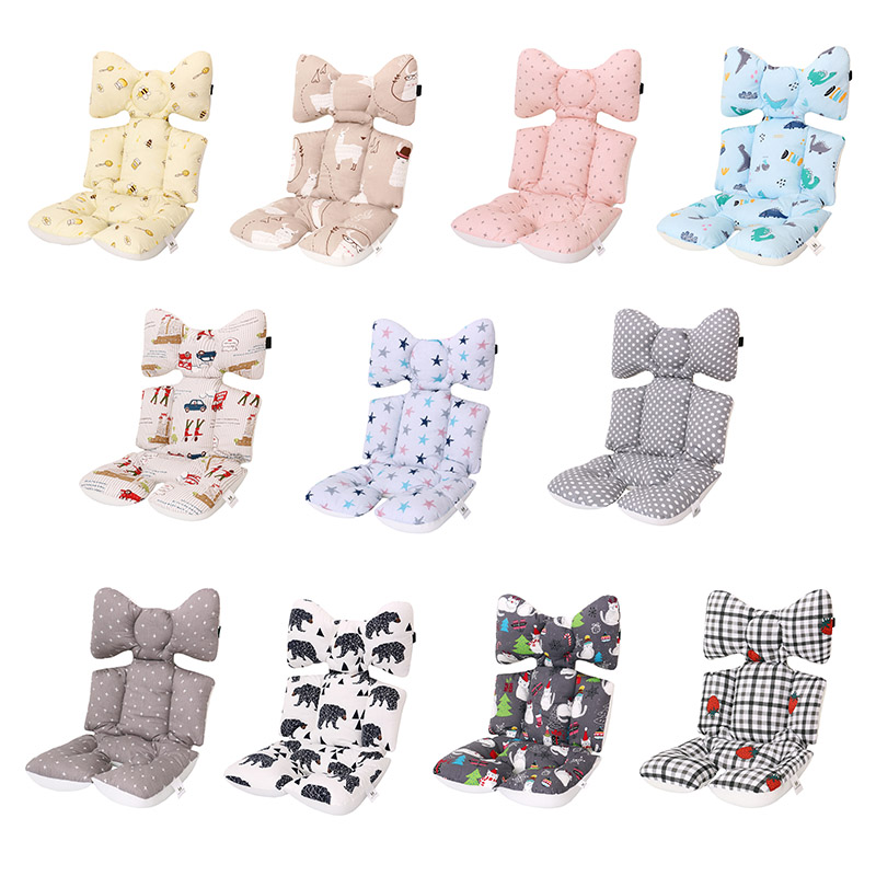 Fashion Printed Stroller Cushion Seat Cover Baby Diaper Pad Seat Pad Cotton Baby Stroller Mat Mattress Pram Stroller Accessories