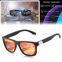 Car Sunglasses Driver Goggles Polarized Sunglasses Men UV400 Elastic Lacquered PC Frame Glasses Sunglasses for Driving the Car