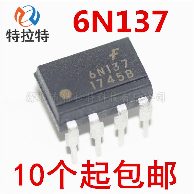 10 шт./лот 6N137 EL6N137 Dip 8 оптрон новый оригинальный|Интегральные схемы|   | АлиЭкспресс
