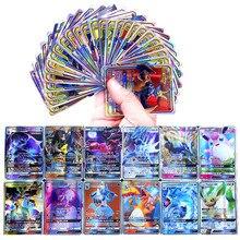 60/100/200/300/324/660 pces francês e inglês pokemon cartão pikachu mega brilhando cartas jogo batalha carte negociação crianças brinquedo