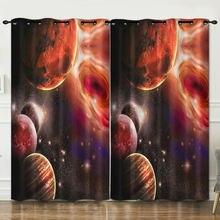 Декоративная занавеска космического звездного неба тканевые