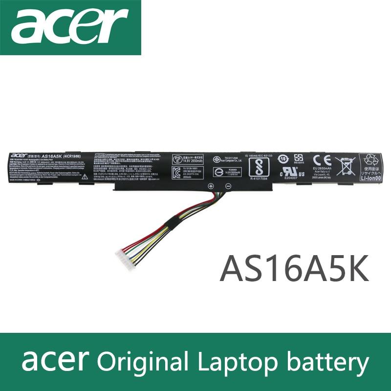 Original Laptop Battery For Acer Aspire E15 E5-475G 523G 573G 575G 774G E5-575G E5-575-59QB E5-575G-53VG AS16A7K AS16A8K AS16A5K
