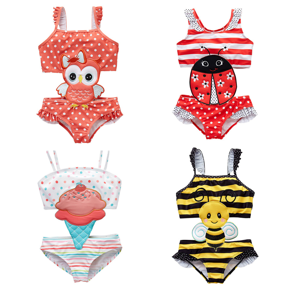 Baby One-piece Swimming Suit Europe And America Swimming Product Quick-Dry Big Boy Cute Cartoon GIRL'S Hot Springs Girls Swimwea