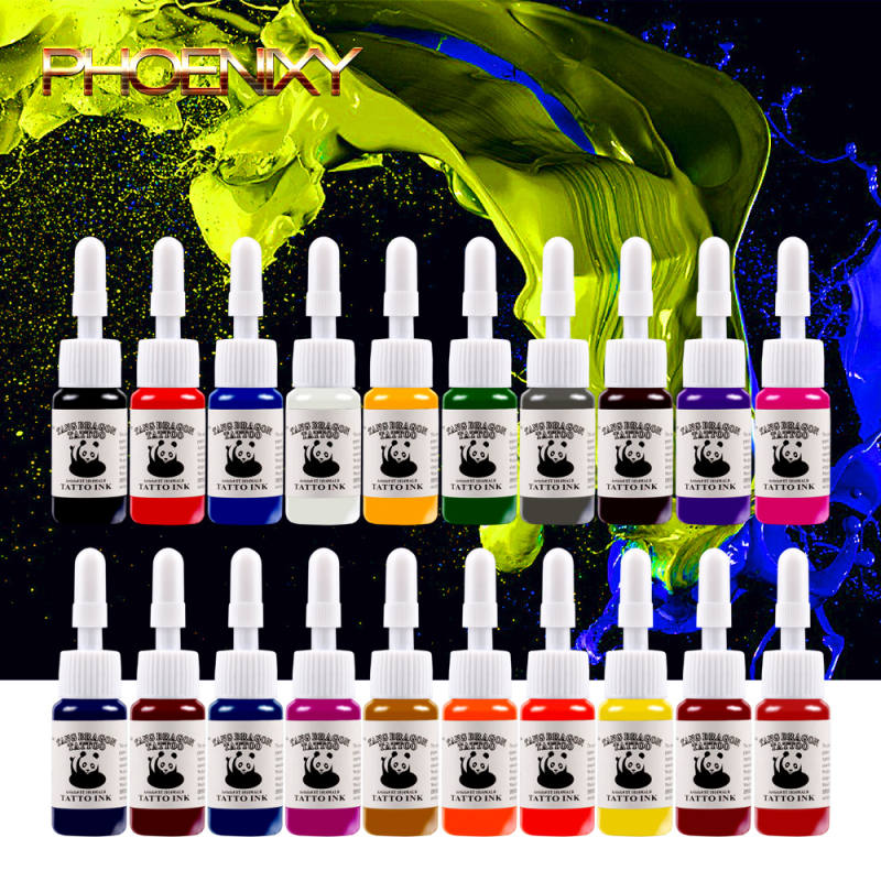 20pcs/set Tattoo Ink Pigment Set Body Art Tattoo Kits Professional Beauty Paints Makeup Tattoo Supplies Semi-permanent Body Art