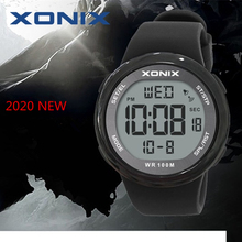 אופנה גברים ספורט שעונים עמיד למים 100m חיצוני כיף Hardlex מראה Sumergible דיגיטלי שעון שחייה שעוני יד Reloj Hombre