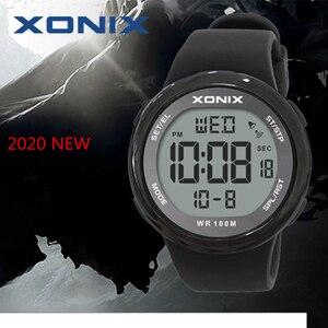 Image 1 - אופנה גברים ספורט שעונים עמיד למים 100m חיצוני כיף Hardlex מראה Sumergible דיגיטלי שעון שחייה שעוני יד Reloj Hombre