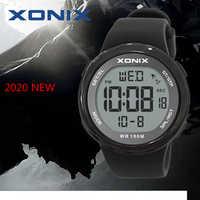 Di modo Degli Uomini di Sport Orologi Impermeabile 100m Outdoor Fun Hardlex Specchio Sommergibile Digitale della Vigilanza di Nuoto Orologio Da Polso Reloj Hombre