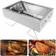 цена на Yooap Mini BBQ Stainless Steel Portable Foldable Uncoated Outdoor Grill  charcoal grill parrilla de barbacoa electric bbq grill