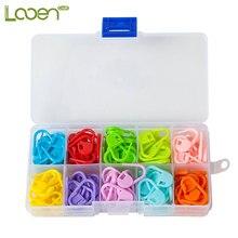 20pcs-120pcs Looen Plastic Stitch Markers Mix Colors Knitting Crochet Locking Holder Needle Sewing Accessories