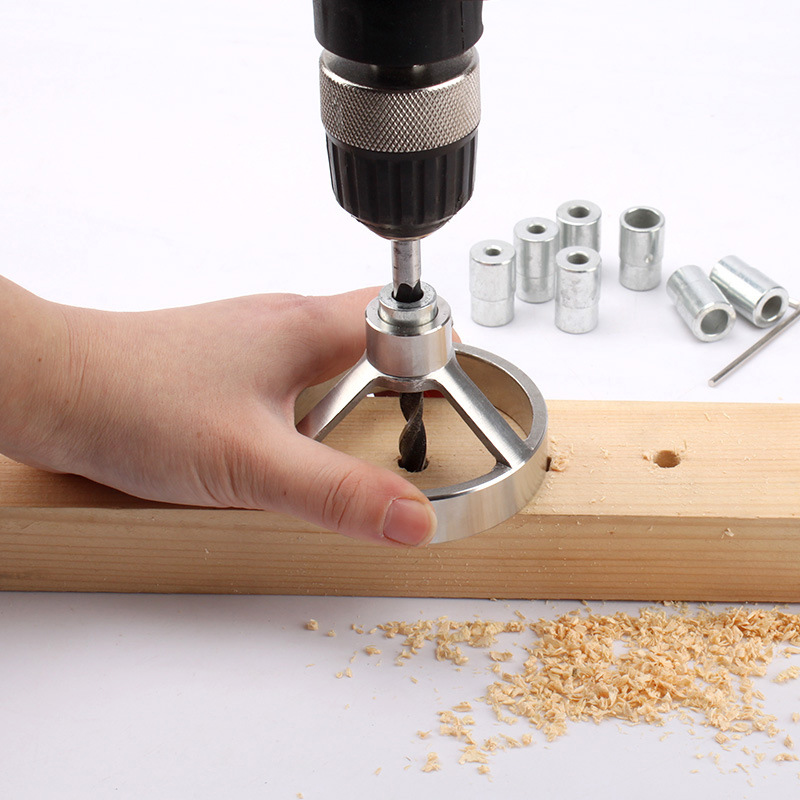 Drill Guide Woodworking Hole Puncher Vertical Drilling Luminaire Wood Working Locator JDH99