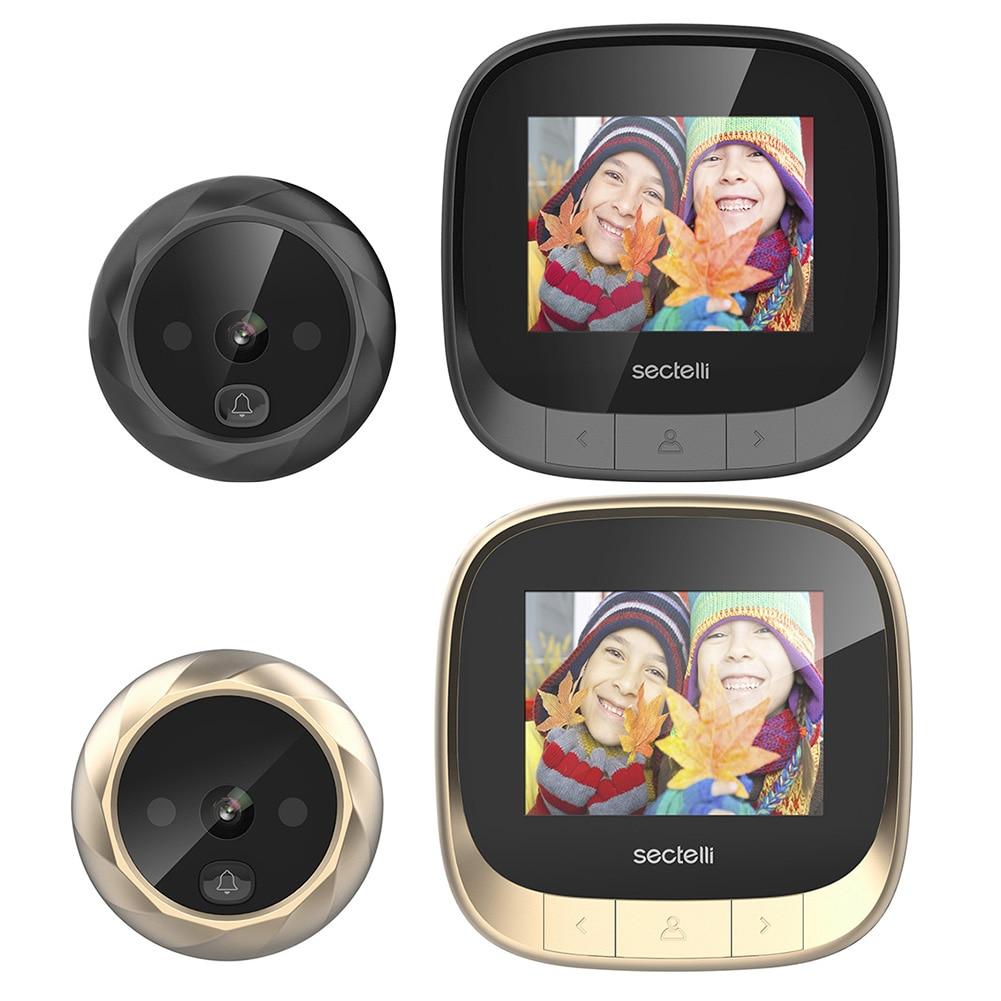Door Hole Smart Camera Wifi Hd 2.4 Inch Home Visible Cat Eye Doorbell Smart Voice Phone Intercom Video Anti-Theft Doorbell