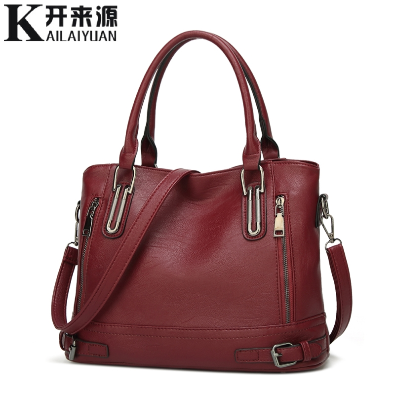100% Genuine Leather Women Handbags 2019 New European And American Fashion Handbag Flow Single Shoulder Slung Tote Big Bag