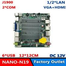 Процессор Baytrail Celeron J1900 LVDS VGA HDMI Dual Lan Nano материнская плата DC