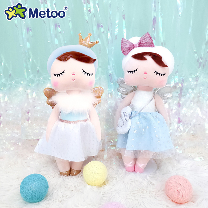 2020 Metoo Dolls Stuffed Toys For Girl Baby Cute Rabbit Beautiful Angel Angela Soft Animals For Kids 【Original Boxes】