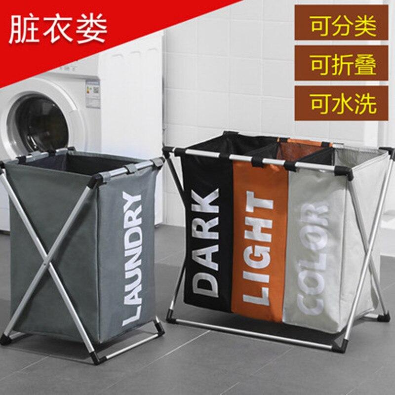 Laundry Basket 3 Hamper Organizer Bathroom Folding Triple Laundry Basket Large Oxford Fabric Laundry Basket With 3 Compartments