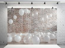 VinylBDS Children Birthday Backdrop Photography White Balloons Baby Shower Backdrop Washable Backgrounds For Photo Studio sensfun masha and the bear photography backdrop for photo studio newborn baby shower children birthday party backgrounds