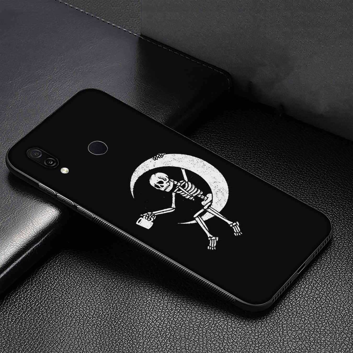 Grim Reaper Skull Scheletro Custodia Morbida per Huawei Y9 Y7 Y6 Prime 2019 2018 Onore vista 20 8C 8X8 9 9X10 Lite 7C 7X 7A Pro