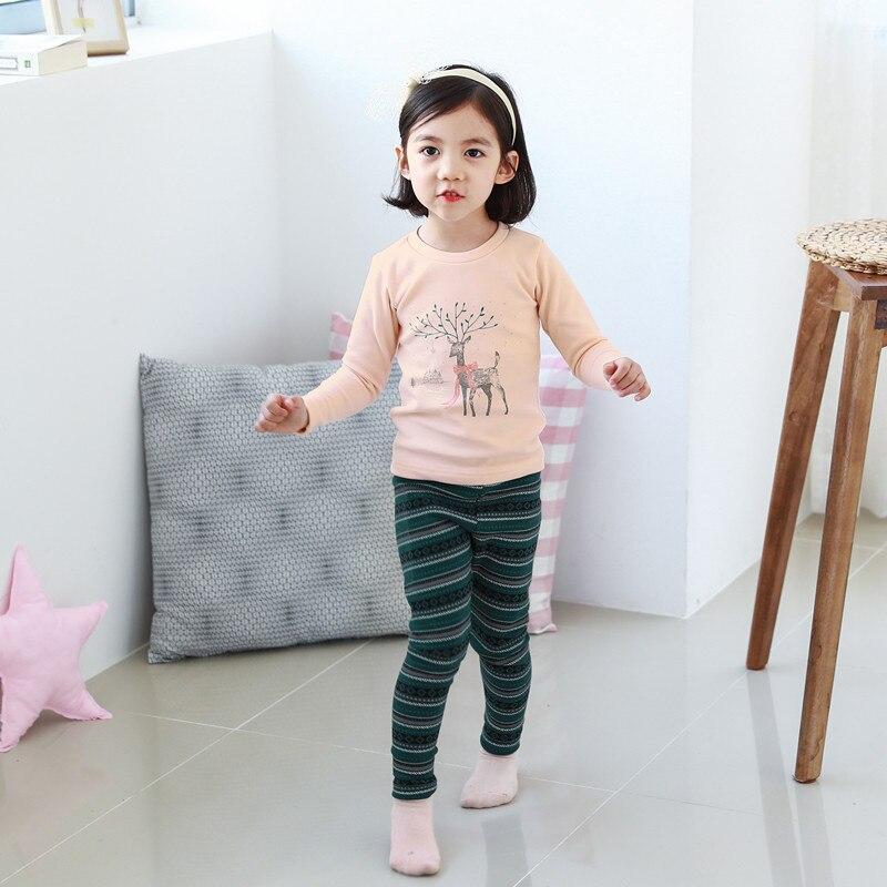 South Korea Genuine Product Men And Women Children Ppippilong Spring New Style Warm Plus Velvet Brushed Underwear Suit