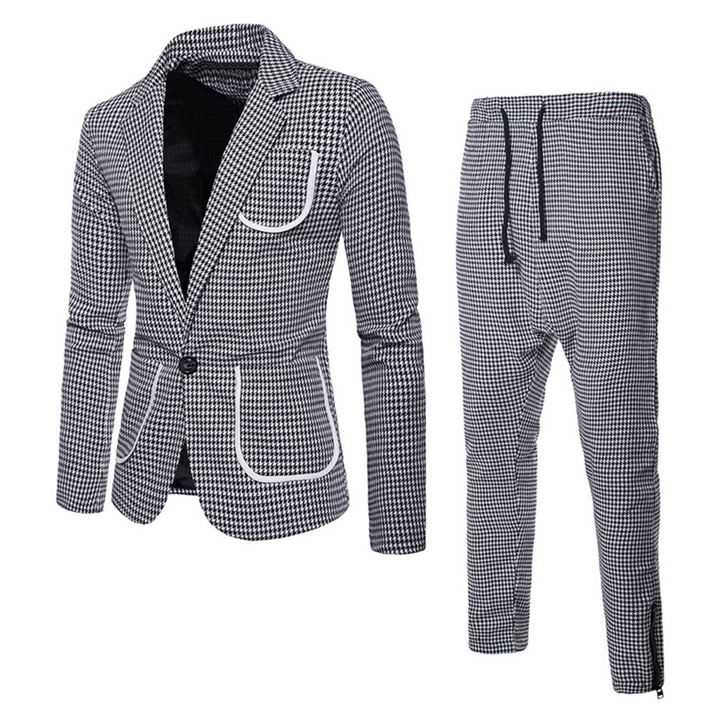 2 Piece( Jacket+pant ) Set Men's Business Groomsman Suit Blazers Jacket Pants Vest Sets Male Fashion Slim Suits Wedding Party