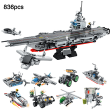 Military Series Aircraft Warship Carrier Helicopter 8 IN 1 33 Styles Compatible legoingly Army Building Blocks Toys For Children pirate series imperial warship building blocks education 1717pcs construction toys gifts for children compatible lepin 22001