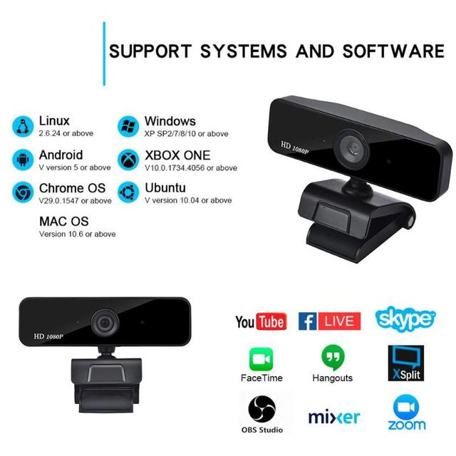 HD 1080P Auto-Focus Webcam