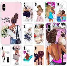 Silicone-Case Fashion Cover Apple iPhone 6s-Plus for 11/Pro-xs/Max-x-xr/.. Cat Queen