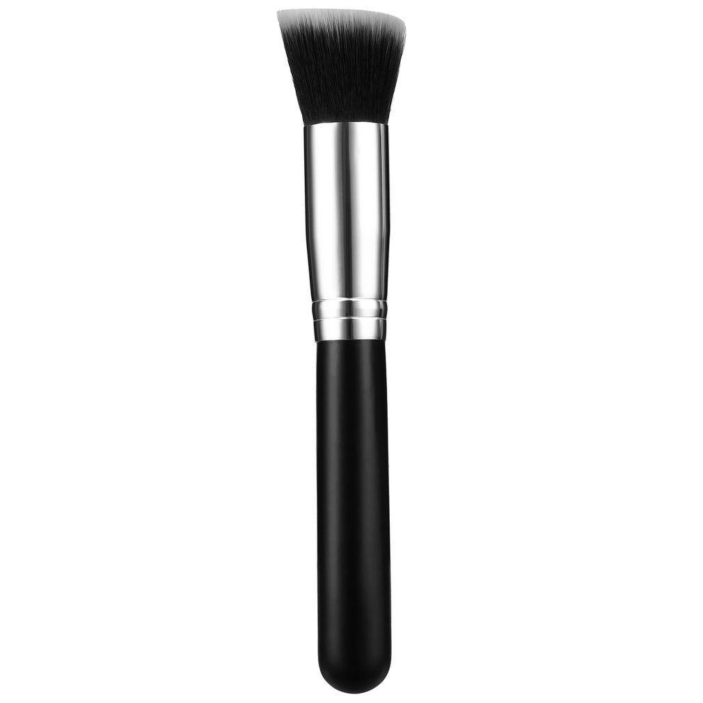 1pc Black Professional Foundation Blush Powder Brush Kabuki Makeup Brush Set Cosmetics Tool Flat brush Lash & Comb Brush