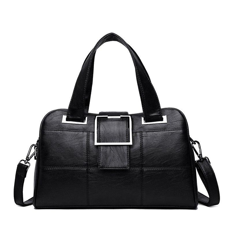 Bolsas femininas 2019 moda luxo sacos de ombro couro genuíno saco de compras preto zip bolsa de bolso para a menina