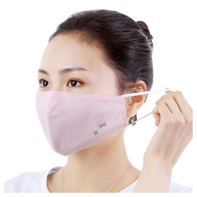 Dust-Proof Mask Pink Dust Mask Anti Flu Mouth Face Masks Pm2.5 Anti-fog Breathable Mouth Maska Unisex Travel Protection Mask 1