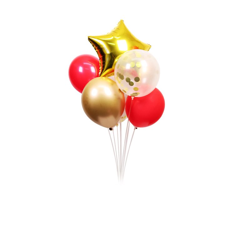 New Latex and 18inch Heart Balloons Happy Birthday Party Decoration Kids Wedding Decoration Ballons Home Party Supplies 6Pcs in Ballons Accessories from Home Garden