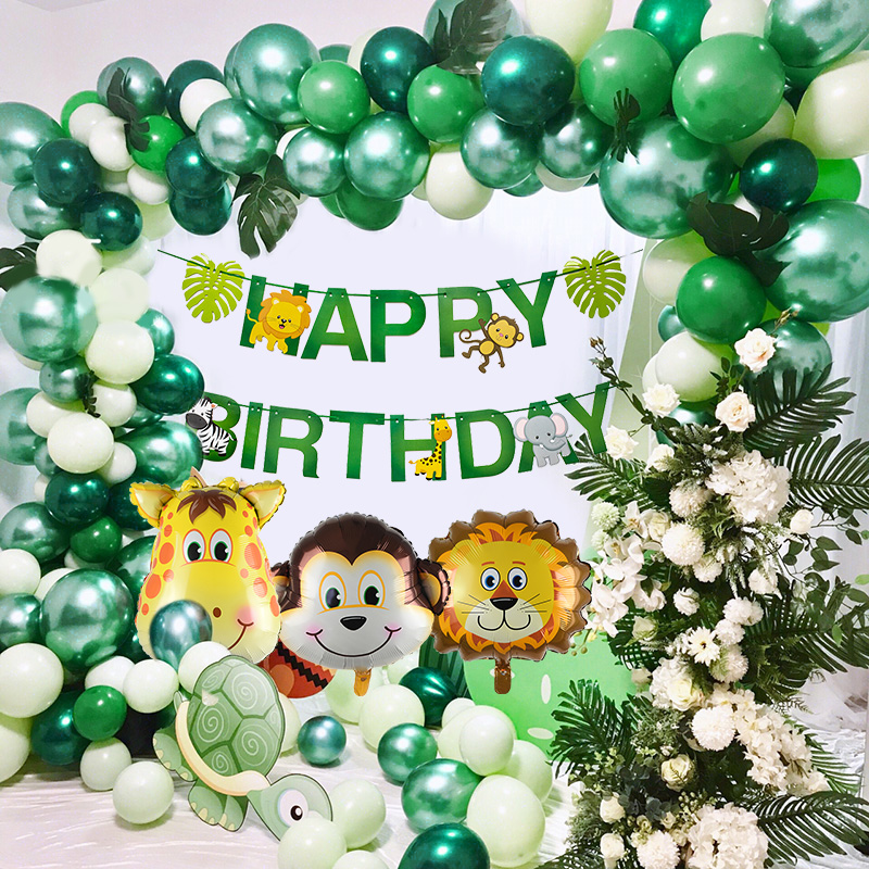 Safari Animals Banner Jungle Party Decoration Safari Party Decor Jungle Theme Animal Balloons 1st Birthday Party Decor Wild One