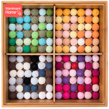 Mamihome 20pcs 20mm Wooden Crochet Beads Baby Teether Knitting Beads Blank DIY Nursing Necklace Gifts Children'S Goods Bpa Free цена 2017