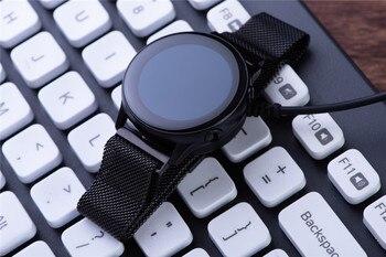 Soporte de cargador de reloj inteligente para Samsung Galaxy watch, soporte de cargador inalámbrico de SM-R500 activo, cables de carga rápida magnéticos USB