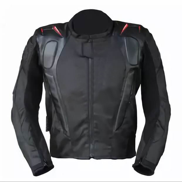 Motorcycle Riding Jacket A Stars Motorcycle Motorcross PU Textile Riding Jacket With Back Cowl And Inner Cotton Lining