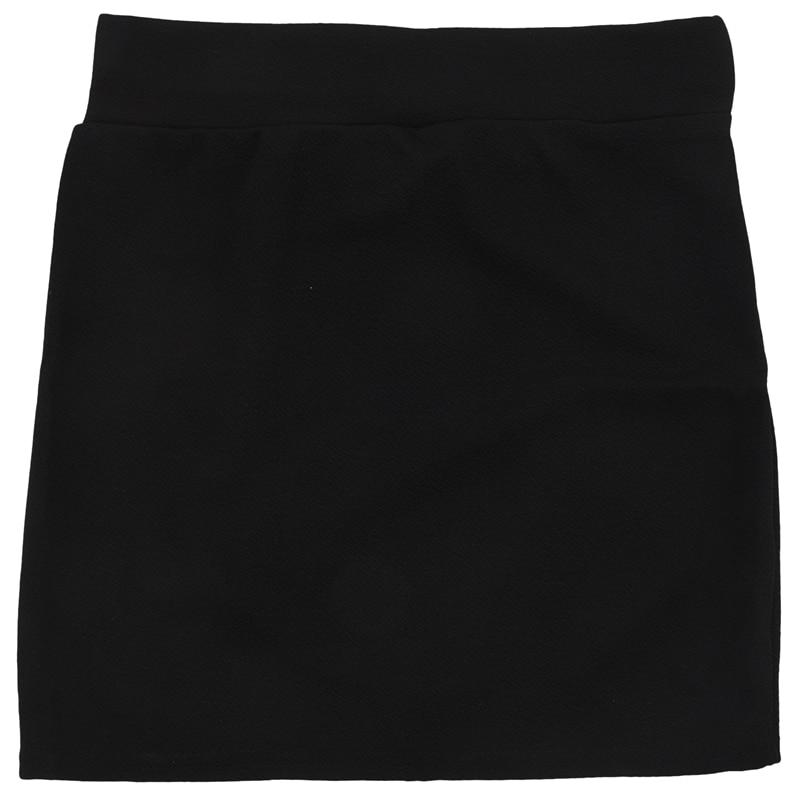 Womens Sexy Mini Skirt Girls Slim Seamless Stretch Tight Short Fitted Skirt New Black