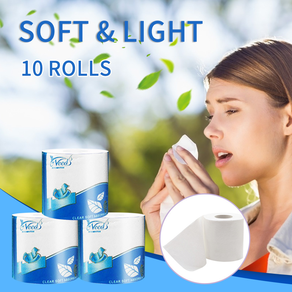 10pcs Paper Towels Three Layer Toilet Tissue Home Bath Toilet Roll Toilet Paper Soft Toilet Paper Skin-friendly Paper Towels New