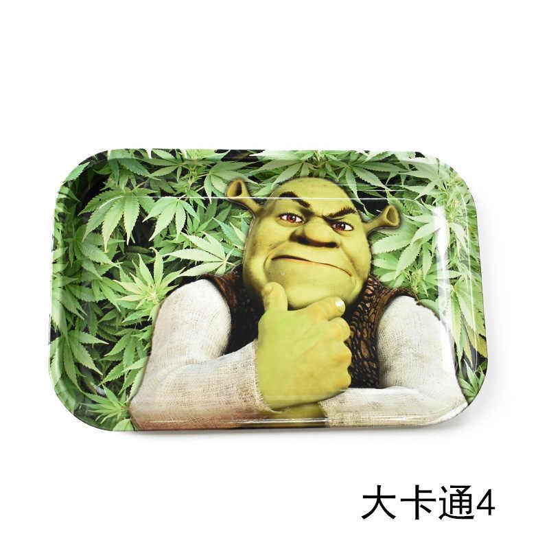 280*180mm große Metall Unkraut Tablett Shisha Shisha Shisha Zubehör Rauchen Rohr roll tablett