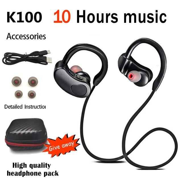 Sports Bluetooth-compatible Earphone Wireless Headphones Stereo Headset K98 K100 Wireless Earbuds HiFI Bass Hands-Free With Mic 1