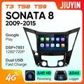 JIUYIN ForHYUNDA SONATA 2009-2015 автомобильный Радио Мультимедиа Видео плеер навигация GPS Android No 2din 2 din