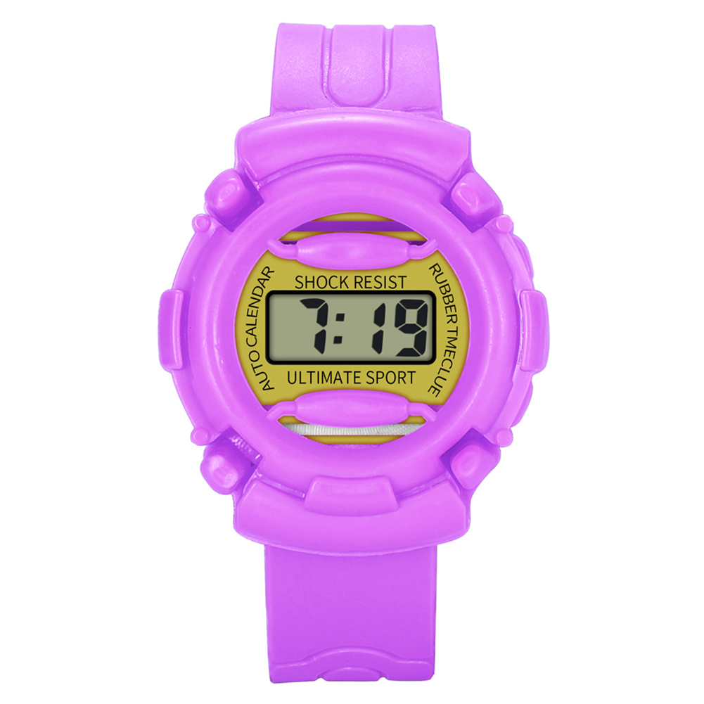 Lightweight And Durable Kids Casual Electronic Watch Children Silicone Sports Watches  LL@17