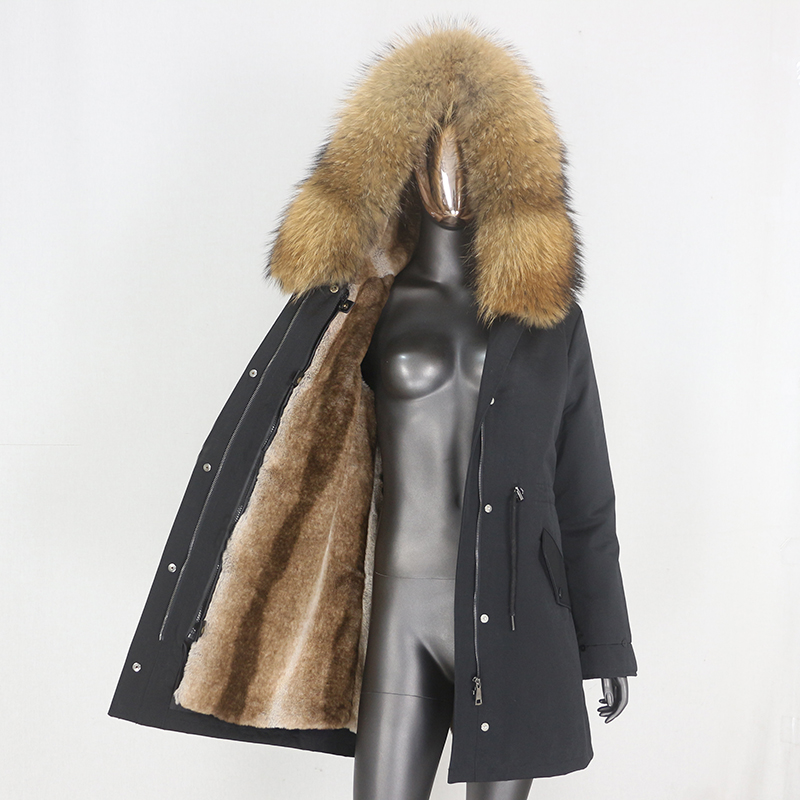 H0551c4d25e274b4bb30a3b9effe6bd4ec CXFS 2021 New Long Waterproof Parka Winter Jacket Women Real Fur Coat Natural Raccoon Fur Hood Thick Warm Streetwear Removable