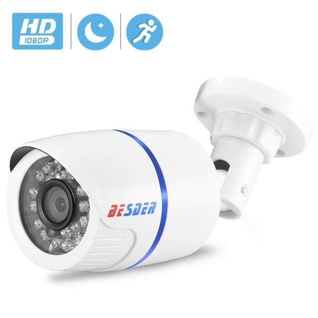 BESDER 1080/720p Full HD IP Camera Bullet Outdoor Waterproof Security Camera ONVIF XMEye 20m Night Vision Motion Detect RTSP P2P