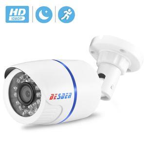 Image 1 - BESDER 1080/720p Full HD IP kamera Bullet açık su geçirmez güvenlik kamera ONVIF XMEye 20m gece görüş hareket algılama RTSP P2P