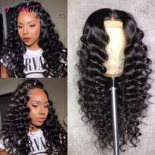 Brazilian Loose Deep Wave Lace Front Human Hair Wigs For Black Women 150 Density 13x4 Lace Front Wig Pre Plucked Natural Wig(China)