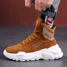 Men Winter Autumn keep Warm Chunky High Tops Shoes Male Rubb